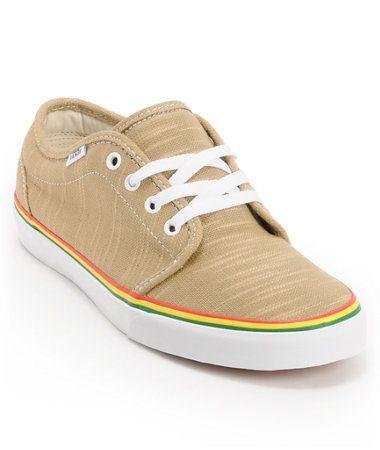 e2d762e2b36 Vans 106 Vulc Natural   Rasta Hemp Skate Shoe