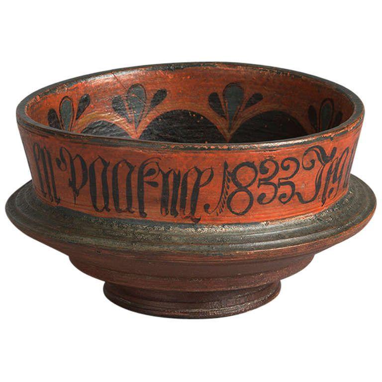 Unique Decorative Bowls Norwegian Ceremonial Ale Bowl Dated 1833  Craft
