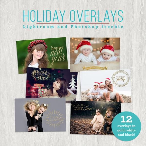 creating a christmas card in lightroom free christmas overlays