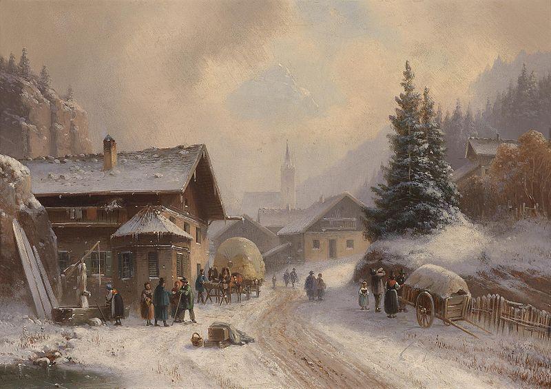 Anton Doll Dorfstraße im Winter - Anton Doll – Wikipedia