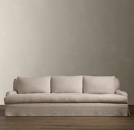 Love This Belgian Linen Sofa With Down Filling From RH. Can Imagine Family  Reading And Cuddling. Love!