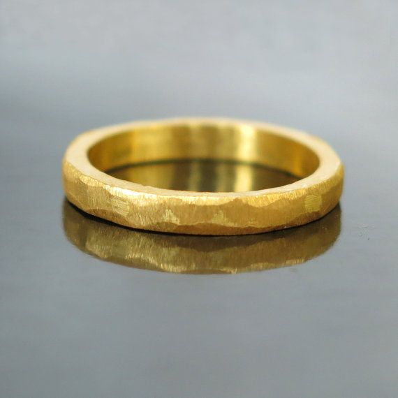 this modern gold wedding band is beautiful for a men or women it is clean