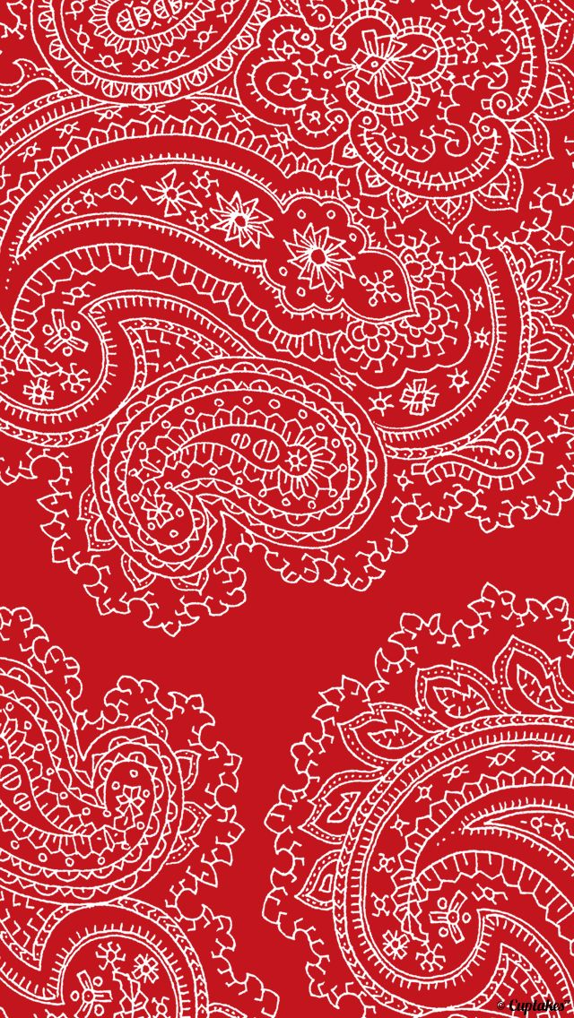 Cuptakes Wallpaper Shelves Red Pattern Backgrounds Paisley