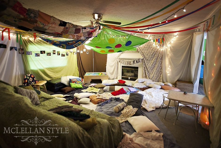 Ideas For A Pillow Fort: huge pillow fort (should be smaller and more of a cave!)   Blanket    ,
