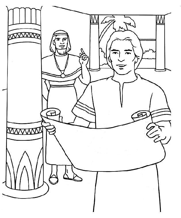 Jozef Bij Potifar Kleurplaat Kleurplaten Bijbel Kleurplaten