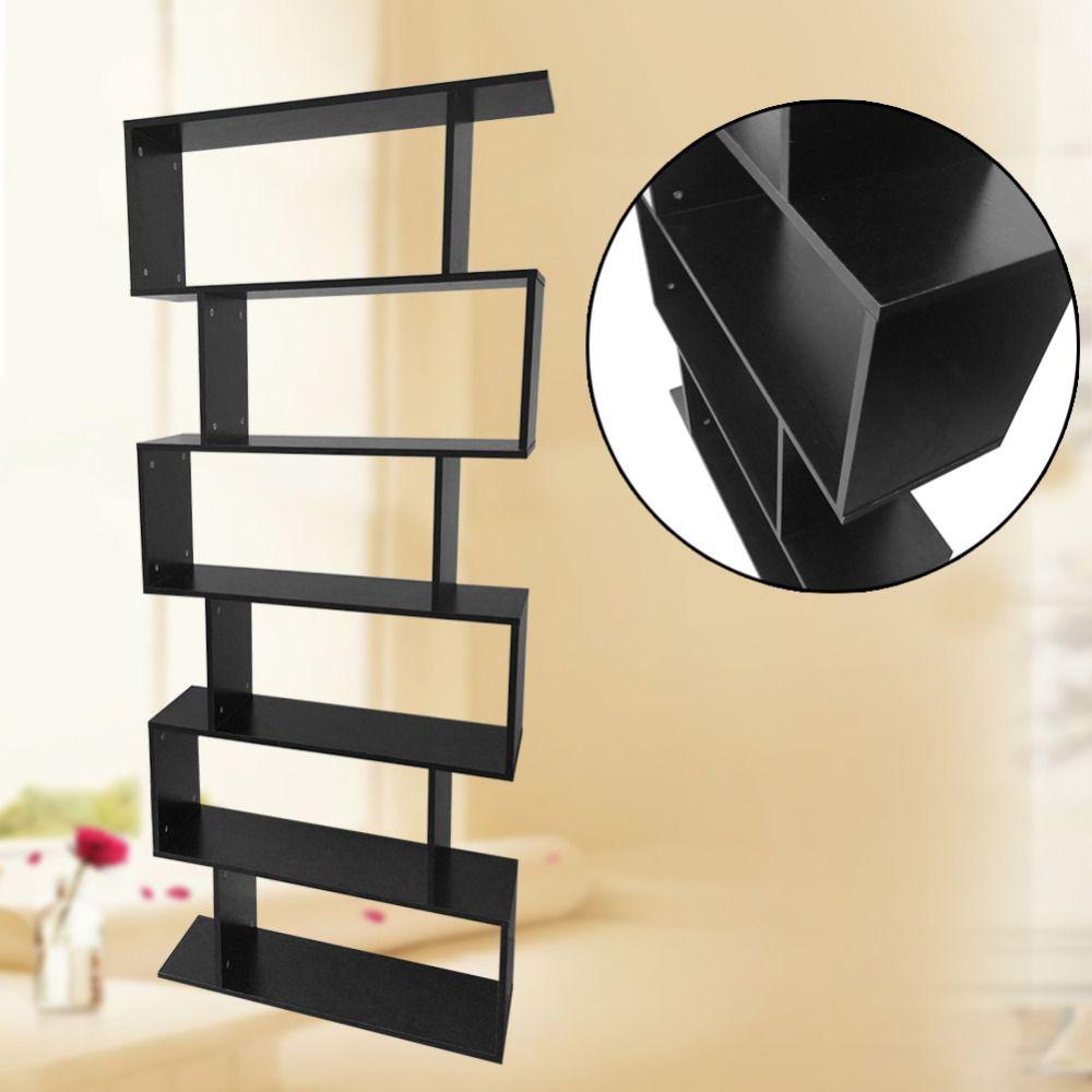 Creative 6 Level Tiers Book Shelf Unit Cube Storage Bookcase Display ...