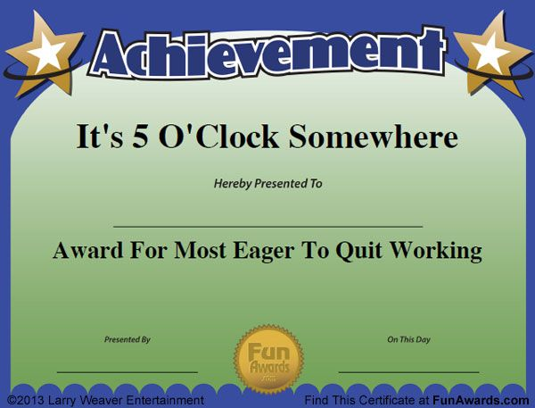 funny work awards  Funny Awards for Employees … | Pinteres…