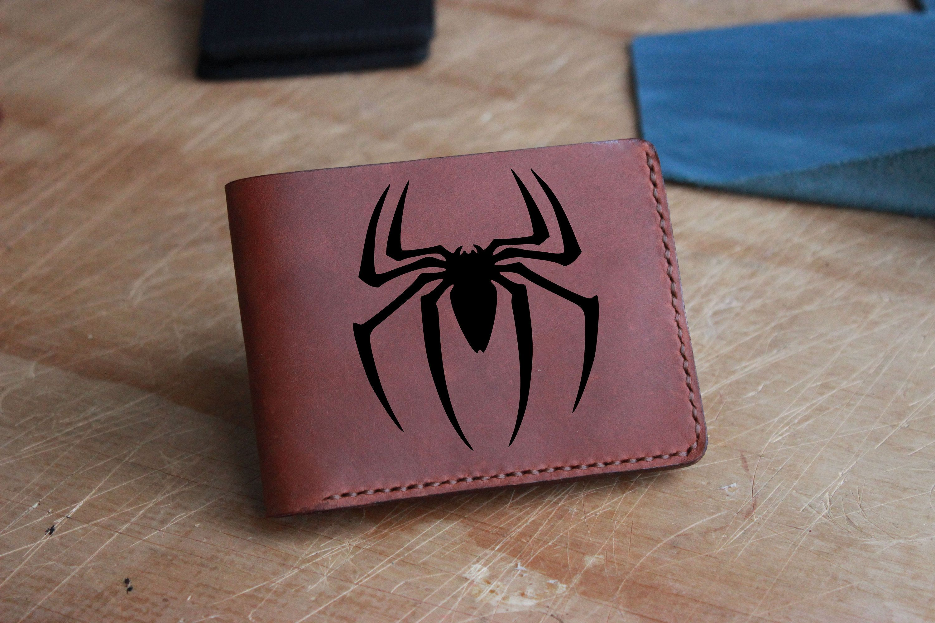 Spiderman wallet,Leather handmade men wallet,Personalized men gift,gift for him,Peter Parker,groom gift,boyfriend gift,Superhero gift,Unisex #superherogifts