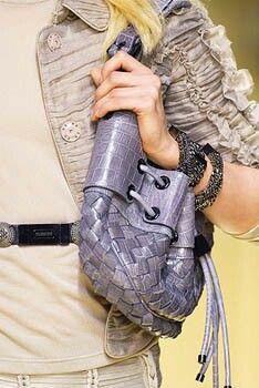 Bolso de cuero de cocodrilo