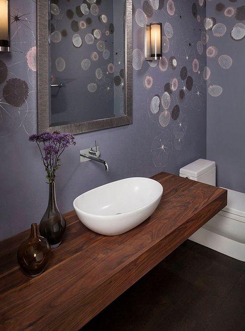Mensola piano lavabo in legno massello di castagno, un forte ...