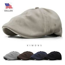 8f6135895aa Newsboy Cotton Gatsby Cap Mens Ivy Hat Golf Driving Summer Sun Flat Cabbie