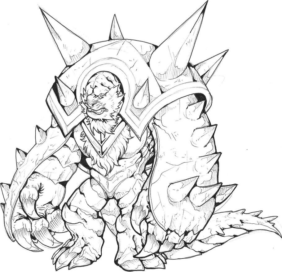 Chesnaught 1 Colorless By Thelaughingchimera On Deviantart Fantasy Character Design Character Art Larp Props