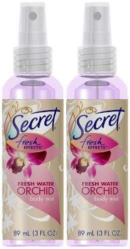 Secret Fresh Effects Body Mist Fresh Water Orchid 3 Oz List