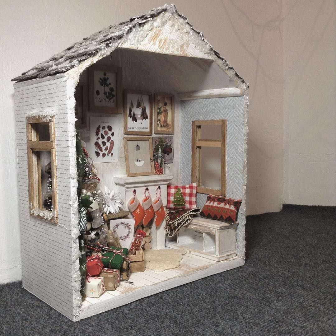 Miniature Children S Bedroom Room Box Diorama: Miniature Christmas ♡ ♡ By Cosydollhouse