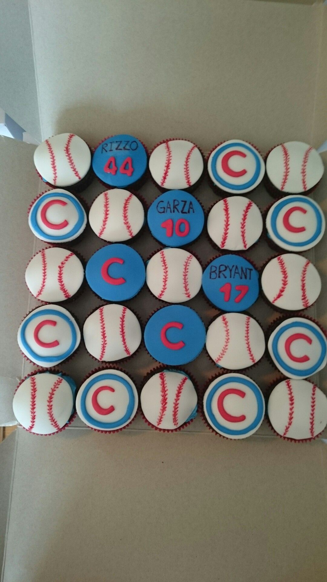 Cubs cupcakes cubs birthday party boy birthday