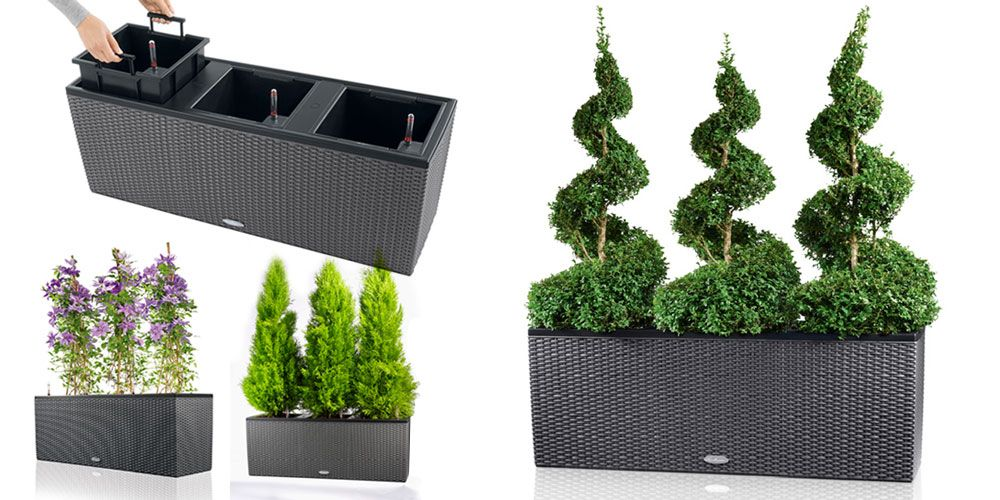 jardiniere trio cottage 100 cm granit