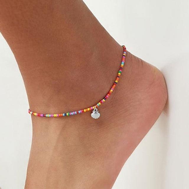 Bohemian Colorful Turkish Eyes Anklets for Women Gold Color Beads Summer Ocean Beach Ankle Bracelet Foot Leg Jewelry 2019 – Denenecek projeler