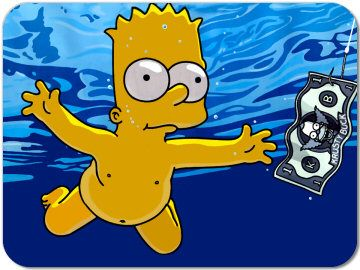 Nirvana's Nevermind, Bart Style. Simpsons art, The