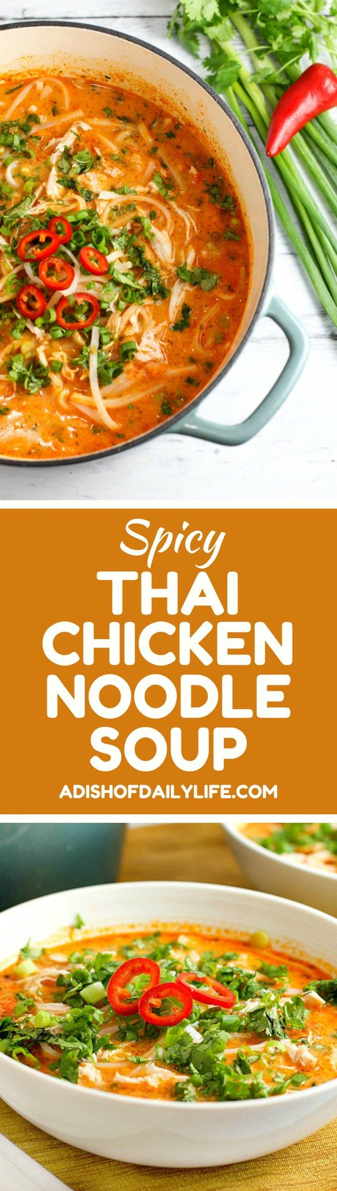 Skip the takeout! This delicious Thai Chicken Noodle Soup is easy to make at home with ingredients you can find in your local