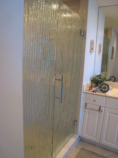 Custom Textured In A Kiln 3 8 Quot Glass Shower Enclosure