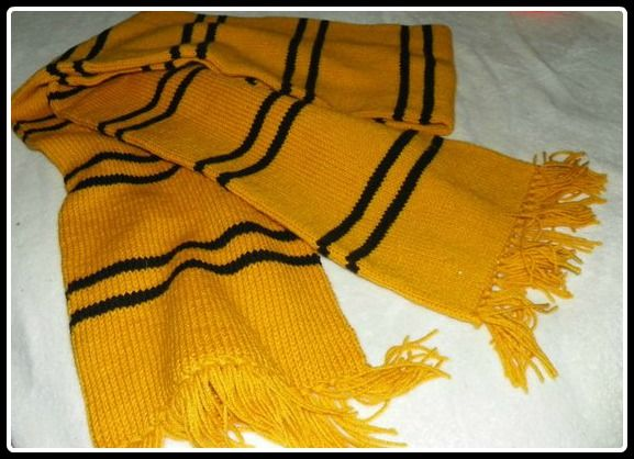 Hufflepuff Scarf Knitting Pattern Crafting Pinterest Knitting