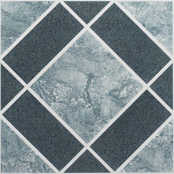 Nexus Light & Dark Blue Diamond Pattern 12x12 Self Adhesive Vinyl ...