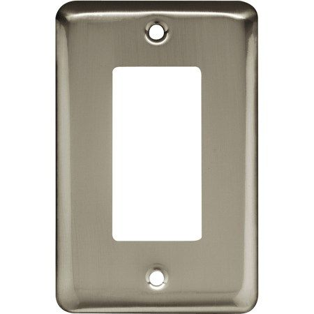 Brainerd Rounded Corner Single Decorator Wall Plate Available in Multiple Colors