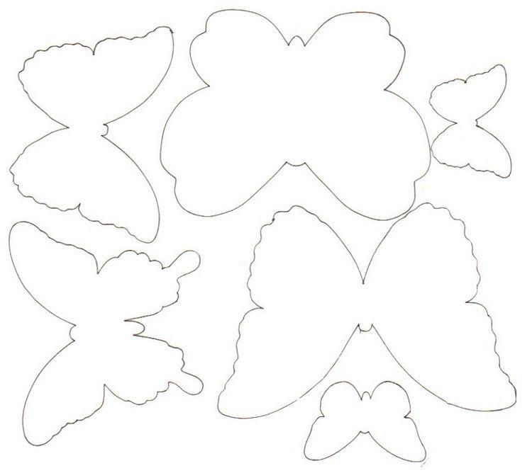 Schmetterlinge Vorlage zum Ausdrucken und Ausschneiden | Basteln ...