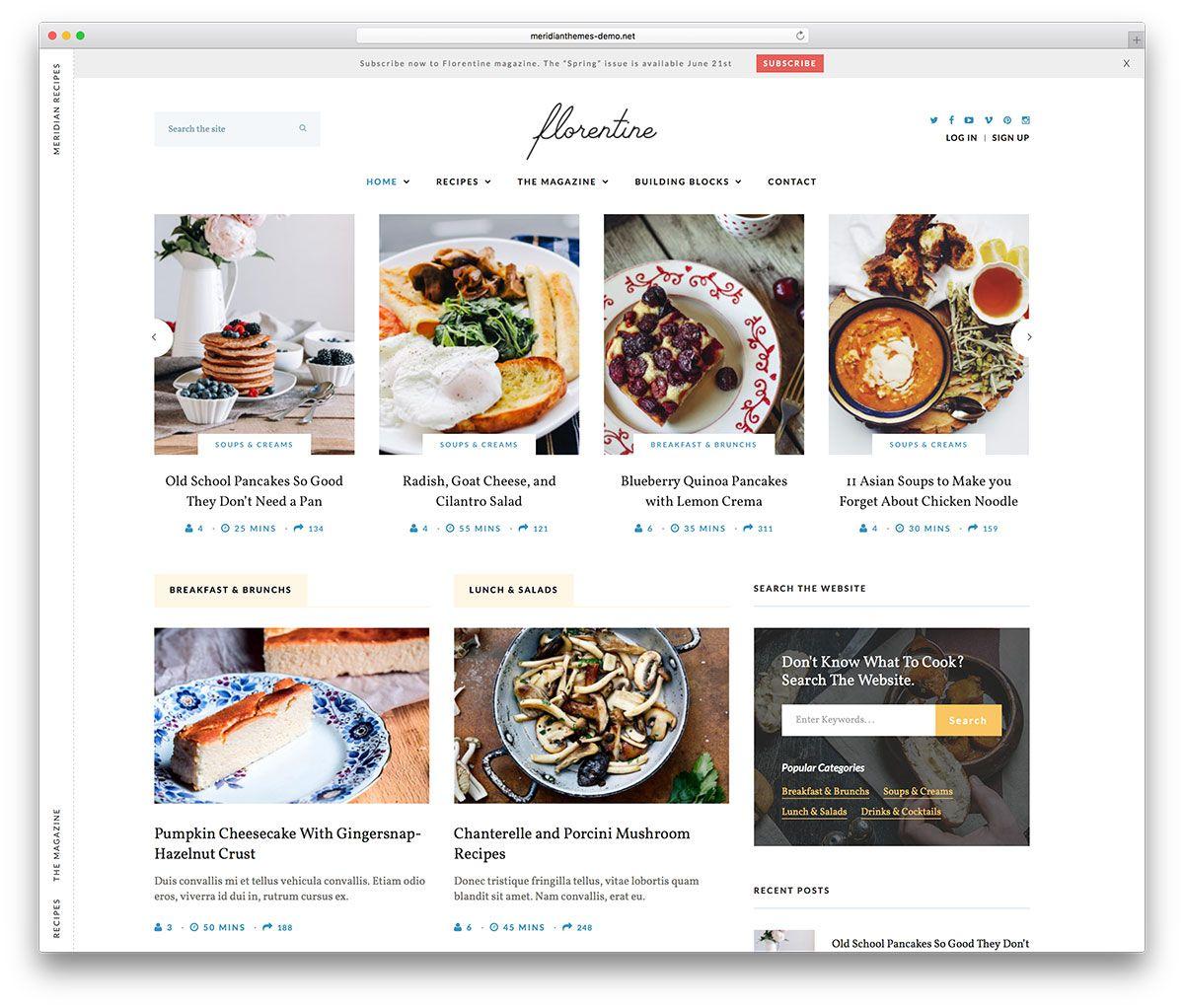 Meridian recipes simple food blog theme food theme pinterest meridian recipes simple food blog theme forumfinder Gallery