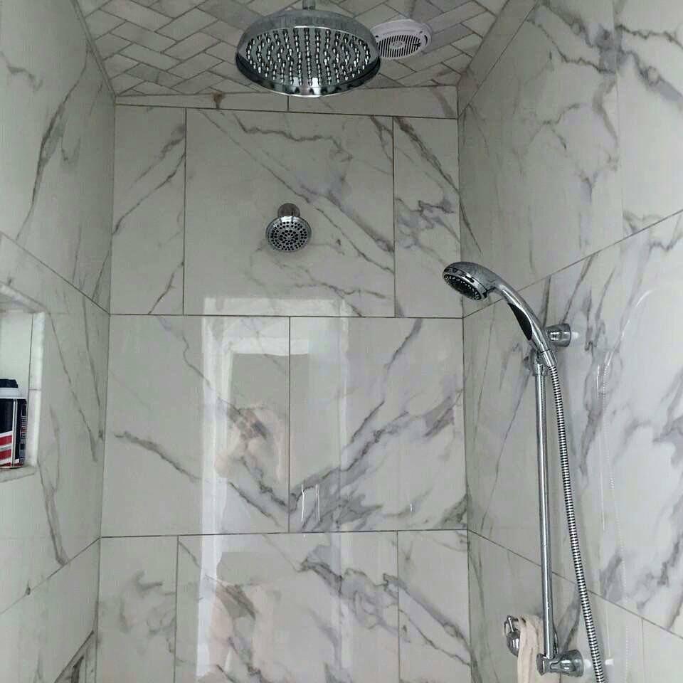 Marble Look Porcelain Tile Statuary Porcelain Marble Tile Bathroom Remodel Shower Remodel Porcelain Tile Bathroom Marble Tile Bathroom Shower Remodel