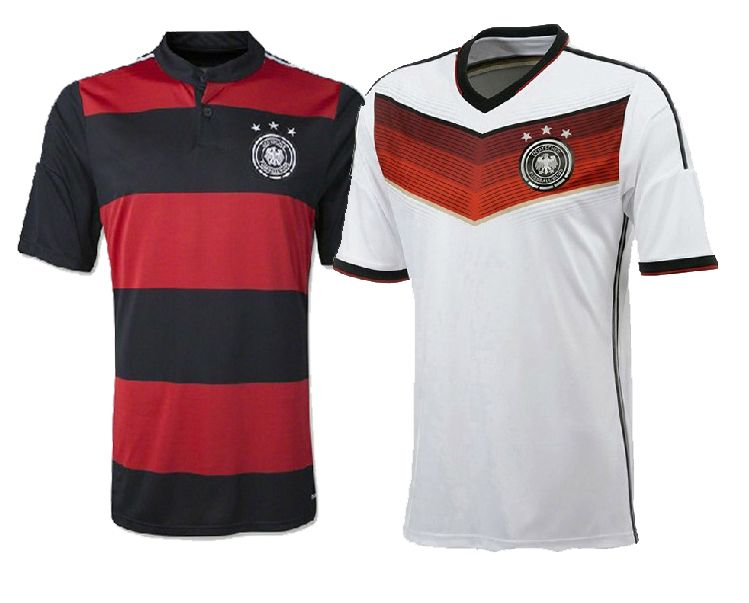 New Brazil World Cup 2014 Germany National Team Soccer Jersey Thai Version Football T Shirts Shorts Sleeves For Football Tshirts World Cup 2014 Germany Team