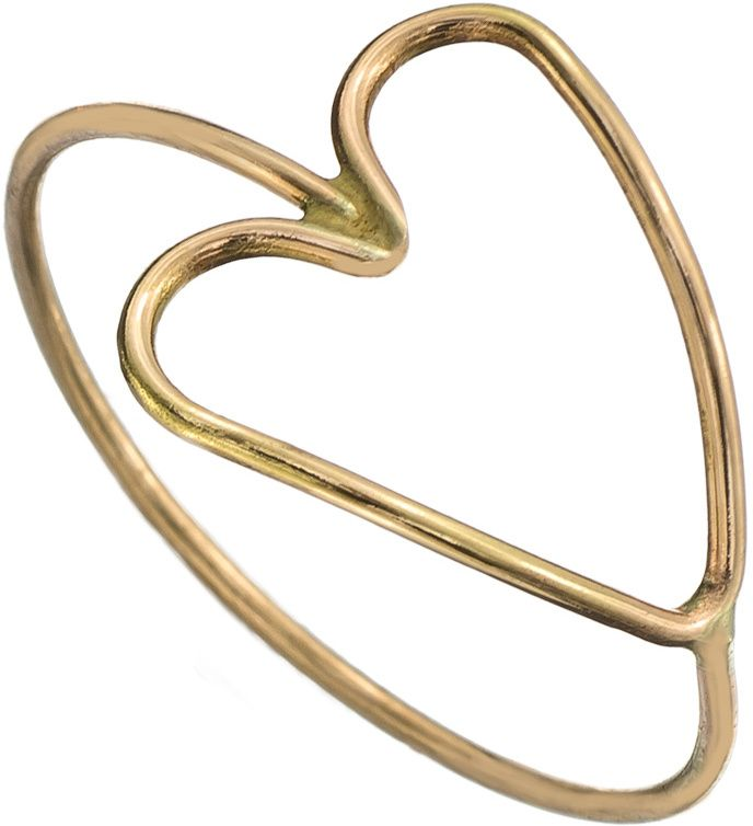Zoe Chicco 14k Gold Tiny Heart Outline Ring