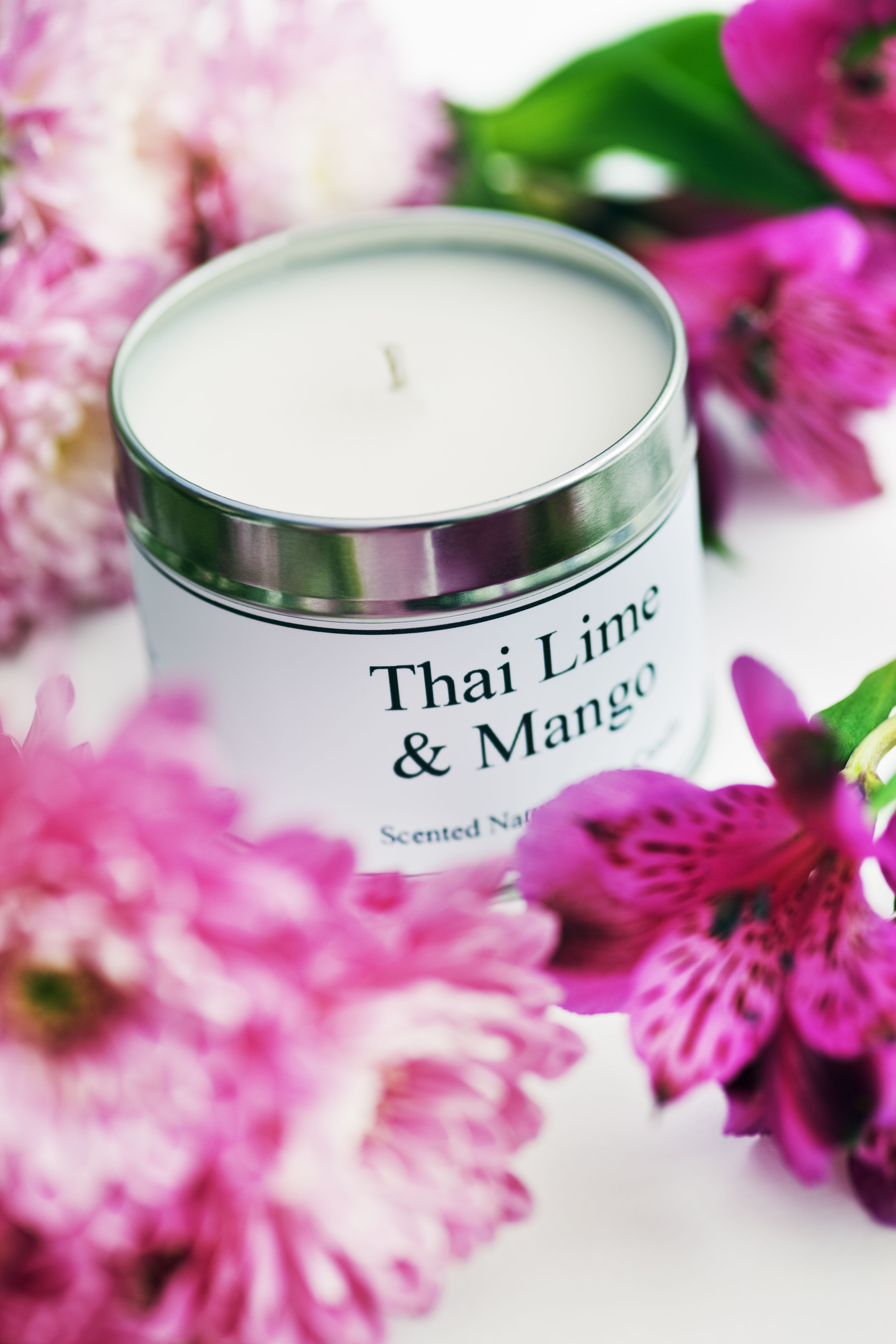 Thai Lime & Mango. scented natural soy wax large 200g tin travel ...