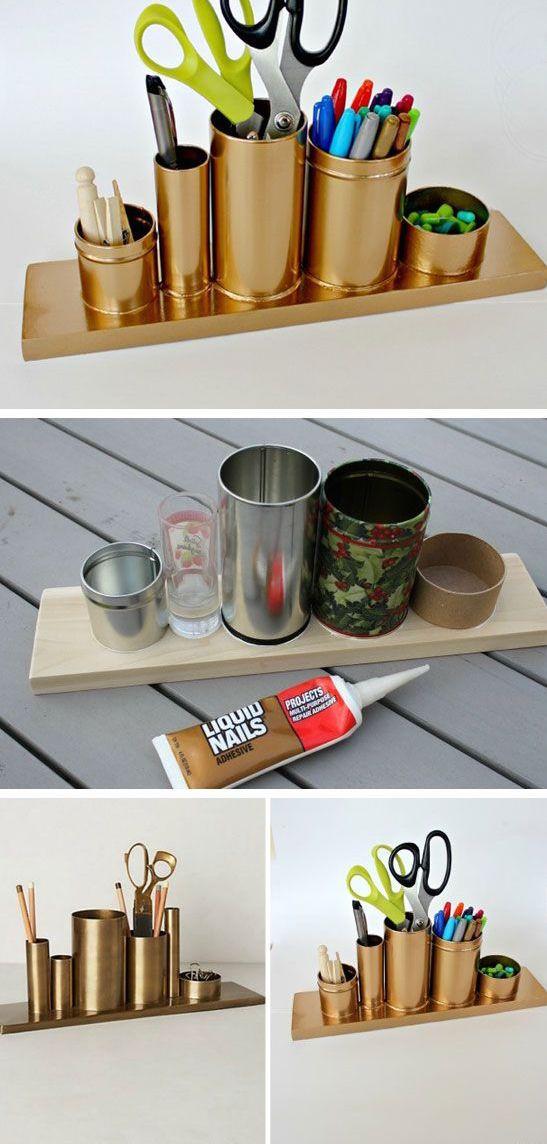 ¡Inspírate y haz tu propio organizador! #DIY #Office