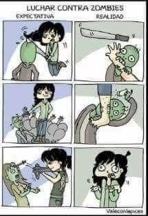 Luchar contra zombies: Expectativa / Realidad