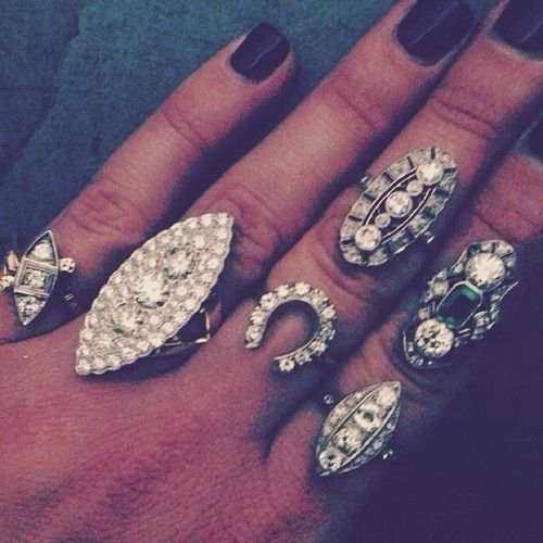 rings stacked - Arrow & Anchor Antiques