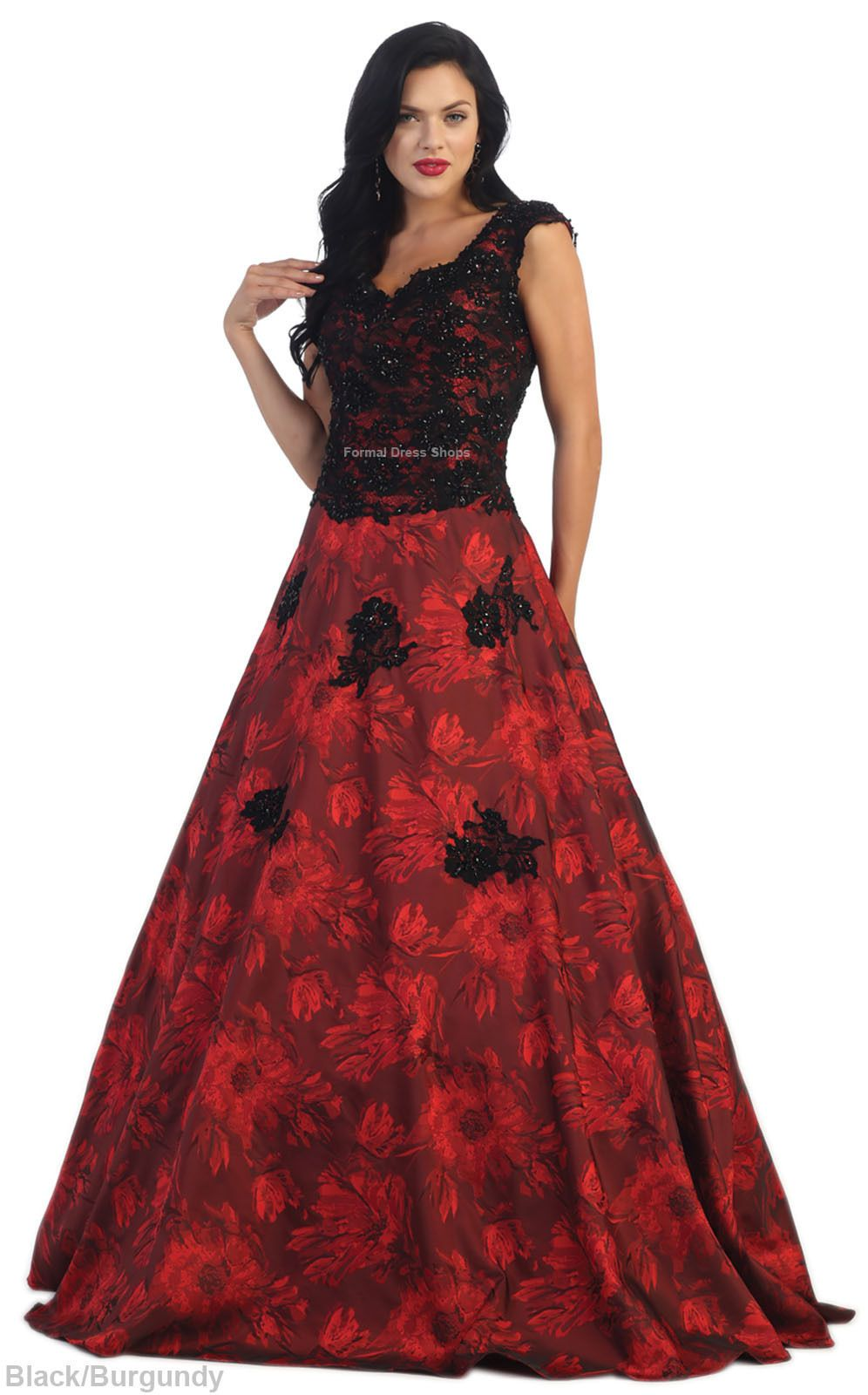Awesome great cap sleeve red carpet evening gown pageant prom formal