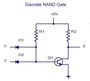 Discrete NAND Gate | Electrical & Electronics Concepts | Nand gate on