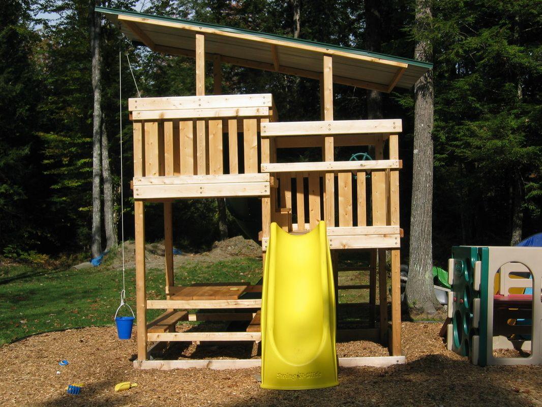 Gemini diy wood fort swingset plans jacks backyard