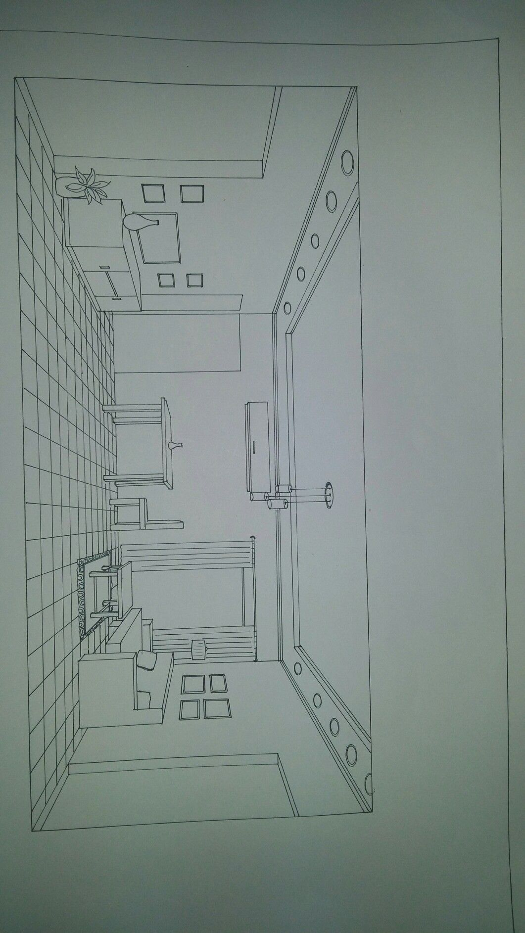 One Perspective Drawing Room: One Point Perspective Living Room
