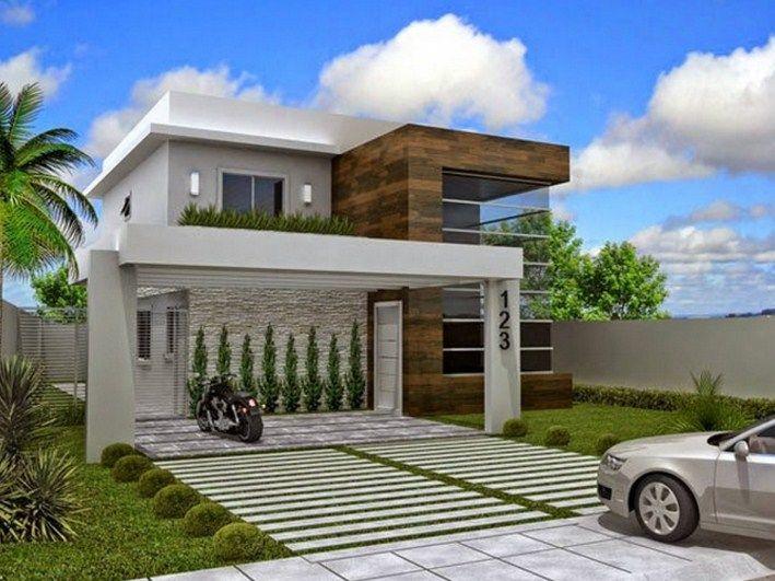 Casas De Dos Pisos Con Balcon Fachadas De Casas Modernas Casas Con Balcon Casas Modernas