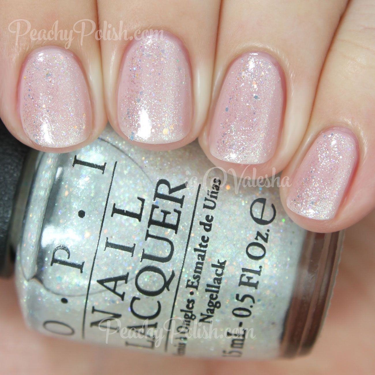 Opi 2017 Soft Shades Collection Make Light Of The Situation Is A Super Shimmery Iridescent Glitter Topper In Clear Base