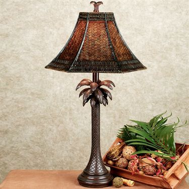 Palm Tree Tropical Table Lamp With CFL Bulb