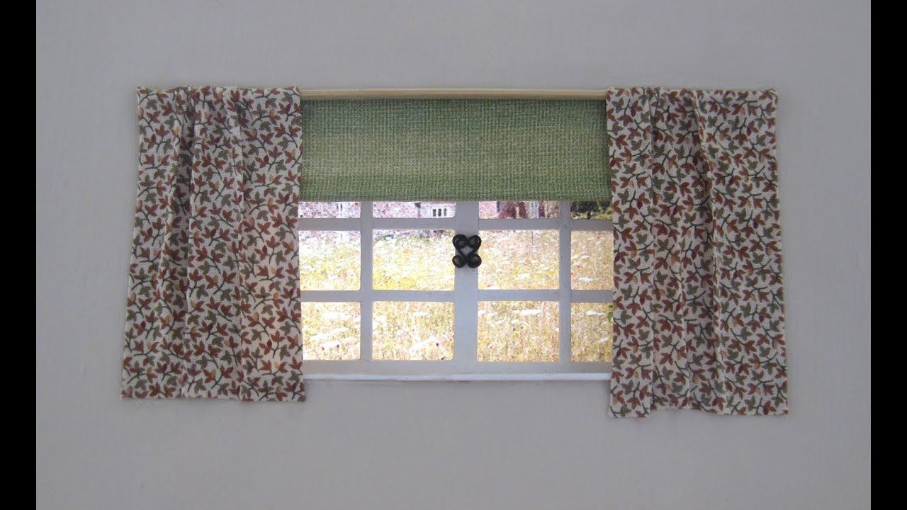 Tutorial Miniature Window Blinds Doll House Curtains Curtains With Blinds Doll House