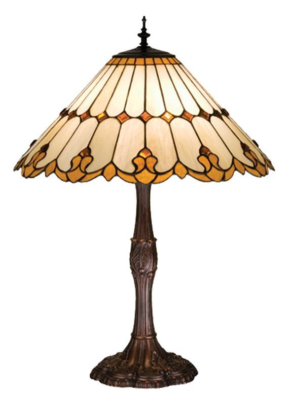 Meyda Tiffany 17582 28 5 H Nouveau Cone Table Build Com Stained Glass Table Lamps Glass Table Lamp Shades Table Lamp