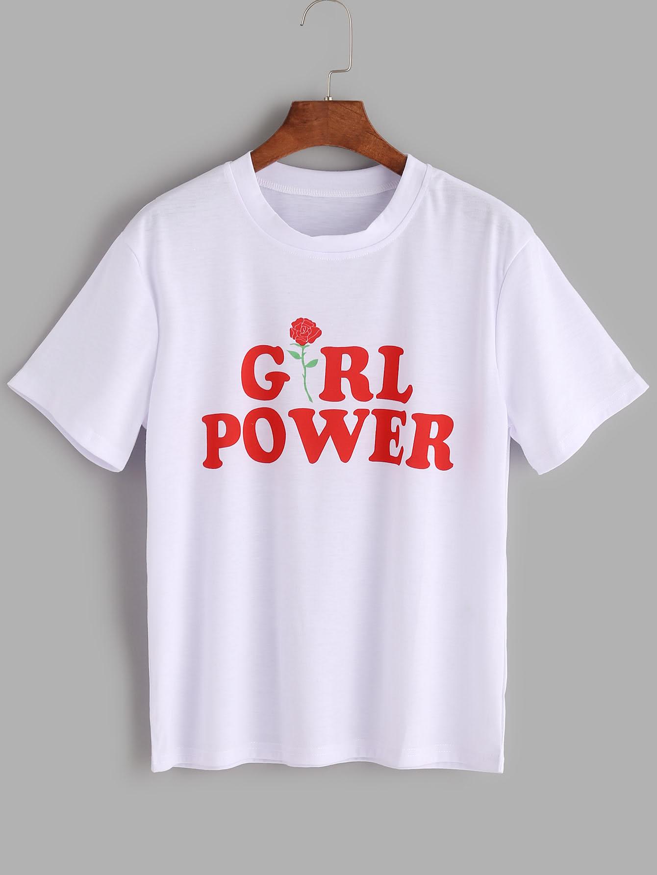 Shop Letters Print T Shirt Online Shein Offers Letters Print T