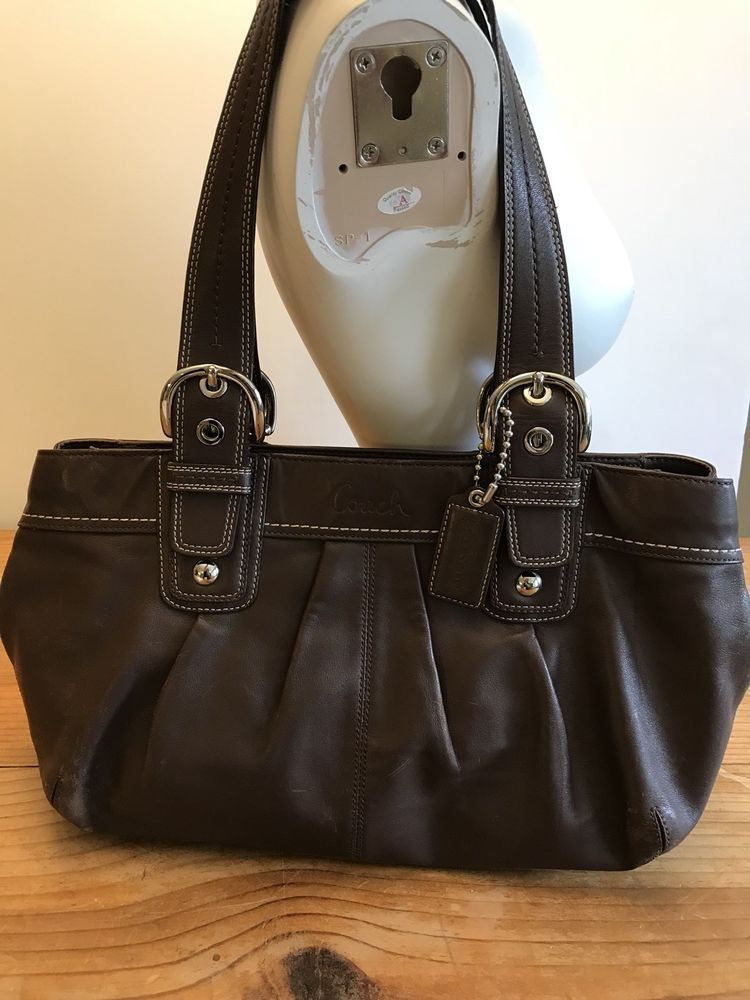 026dd11a2 Coach Large Soho Pleated Chocolate Brown Soft Leather Zip Tote Handbag  13732 #Coach #Tote