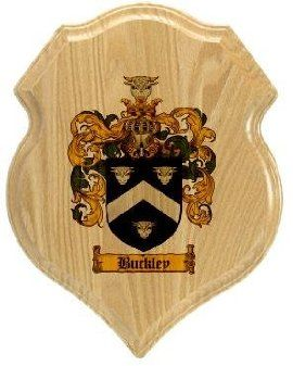 $34.99 Buckley Coat of Arms Plaque / Family Crest Plaque