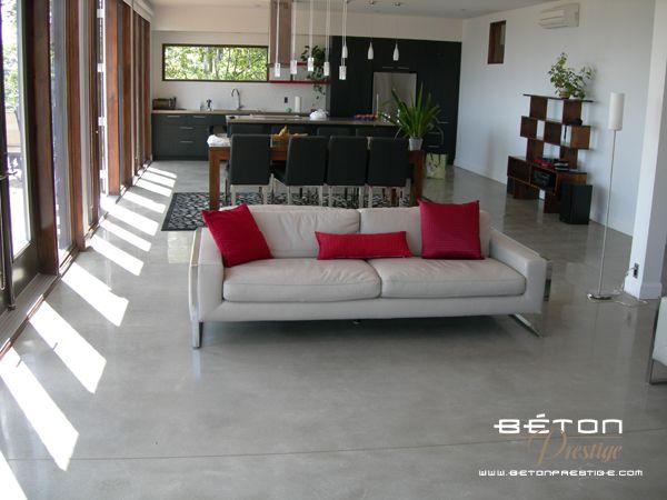 Galerie - B ton poli Beton cire Pinterest Polished concrete - peinture exterieure sol beton