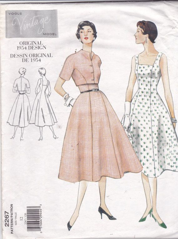 Vogue Vintage-Modell 2267 Muster Damen Kleid und von OhSewVogue ...
